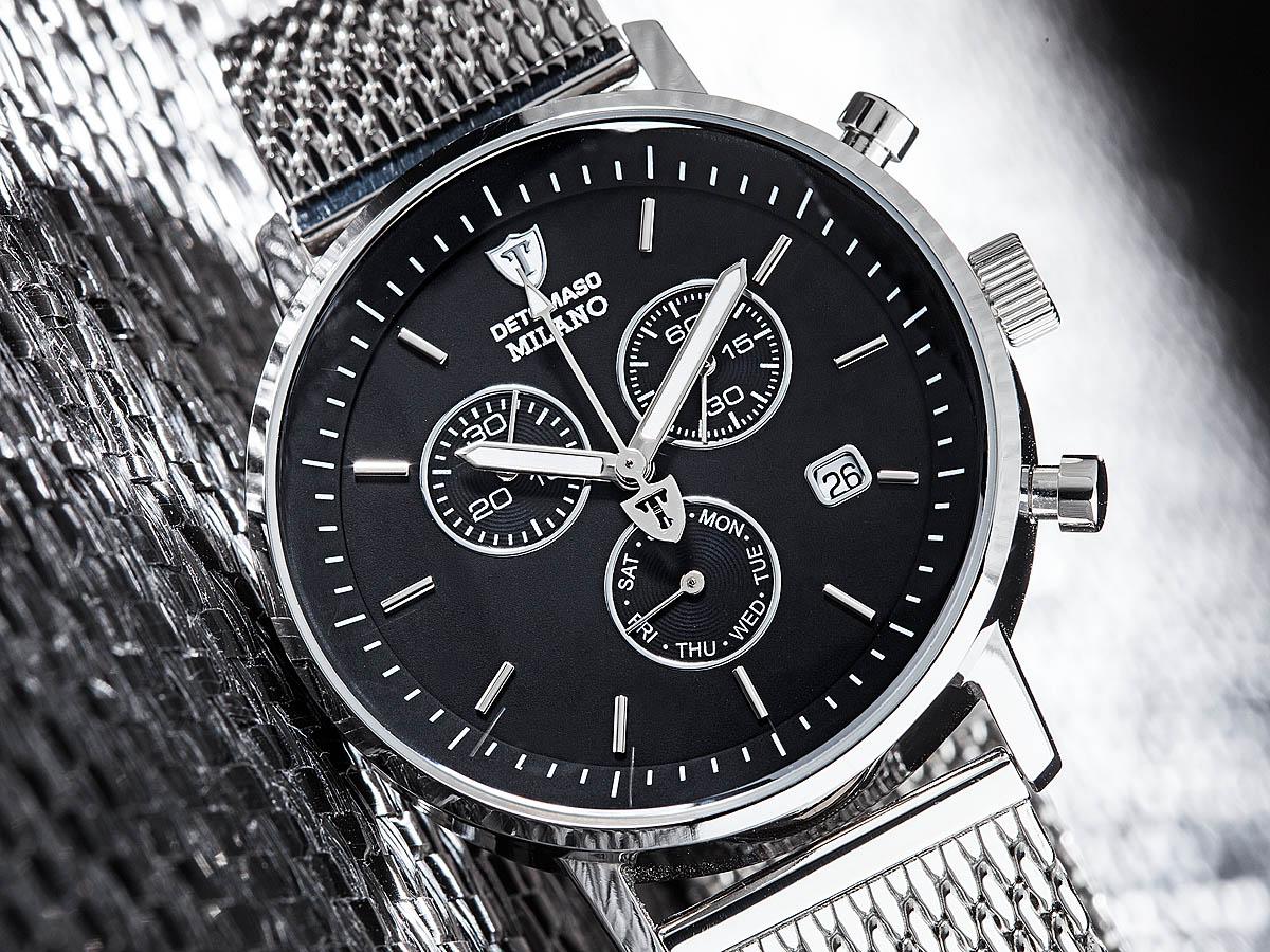 detomaso milano chronograph mit edelstahlarmband mineralglas f r 79 20 beim bild shop. Black Bedroom Furniture Sets. Home Design Ideas