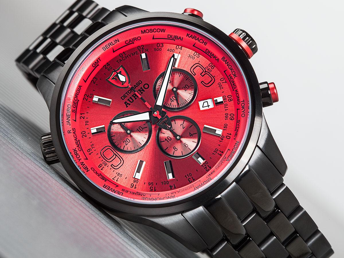 detomaso aurino mens wrist watch chronograph stainless. Black Bedroom Furniture Sets. Home Design Ideas