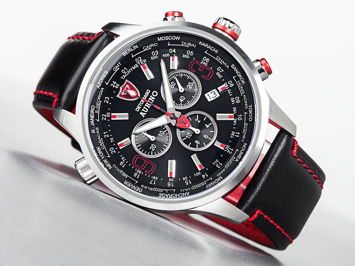 detomaso aurino mens watch chronograph sapphire coated. Black Bedroom Furniture Sets. Home Design Ideas