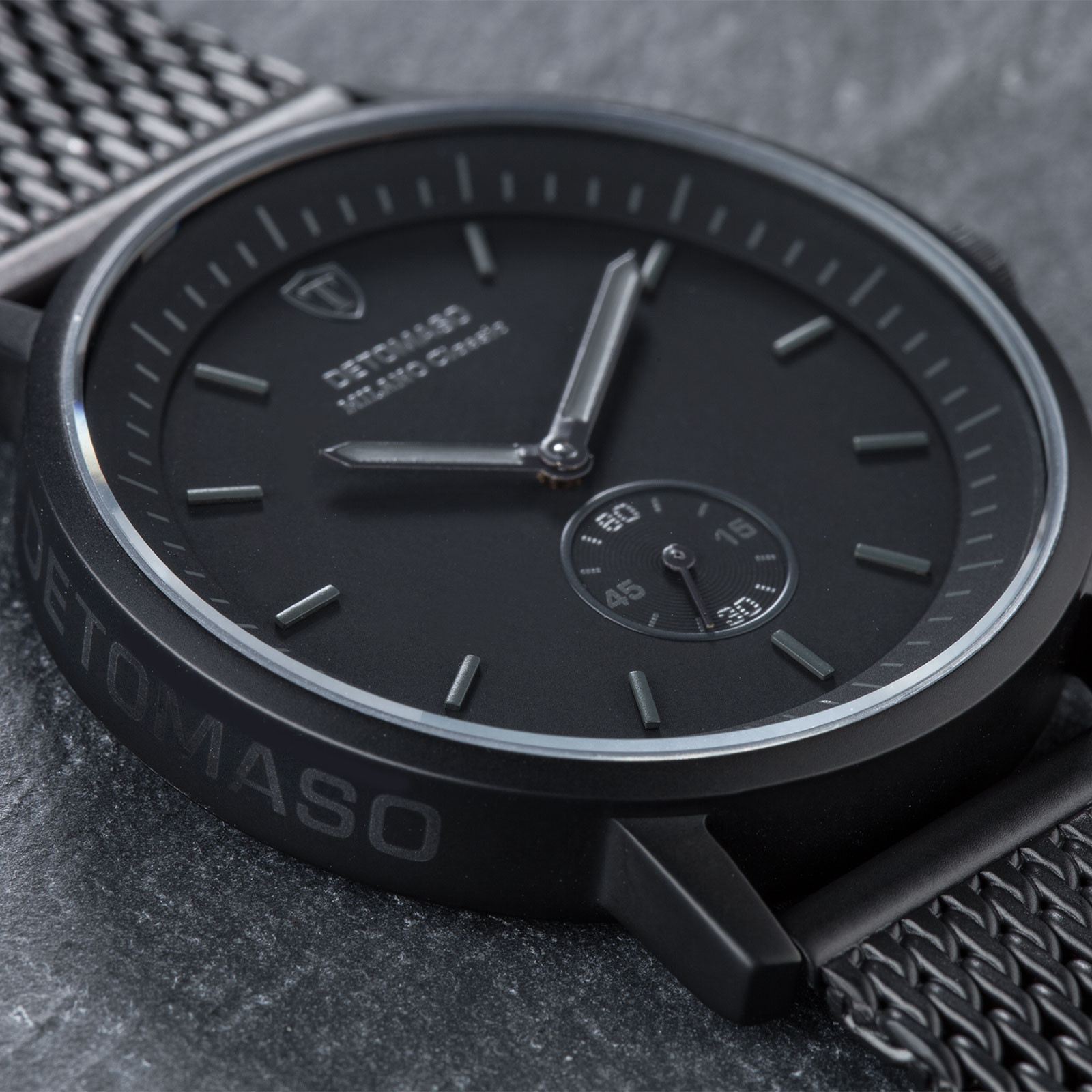 detomaso milano classic montre homme noir bracelet acier maille milanaise neuve ebay. Black Bedroom Furniture Sets. Home Design Ideas