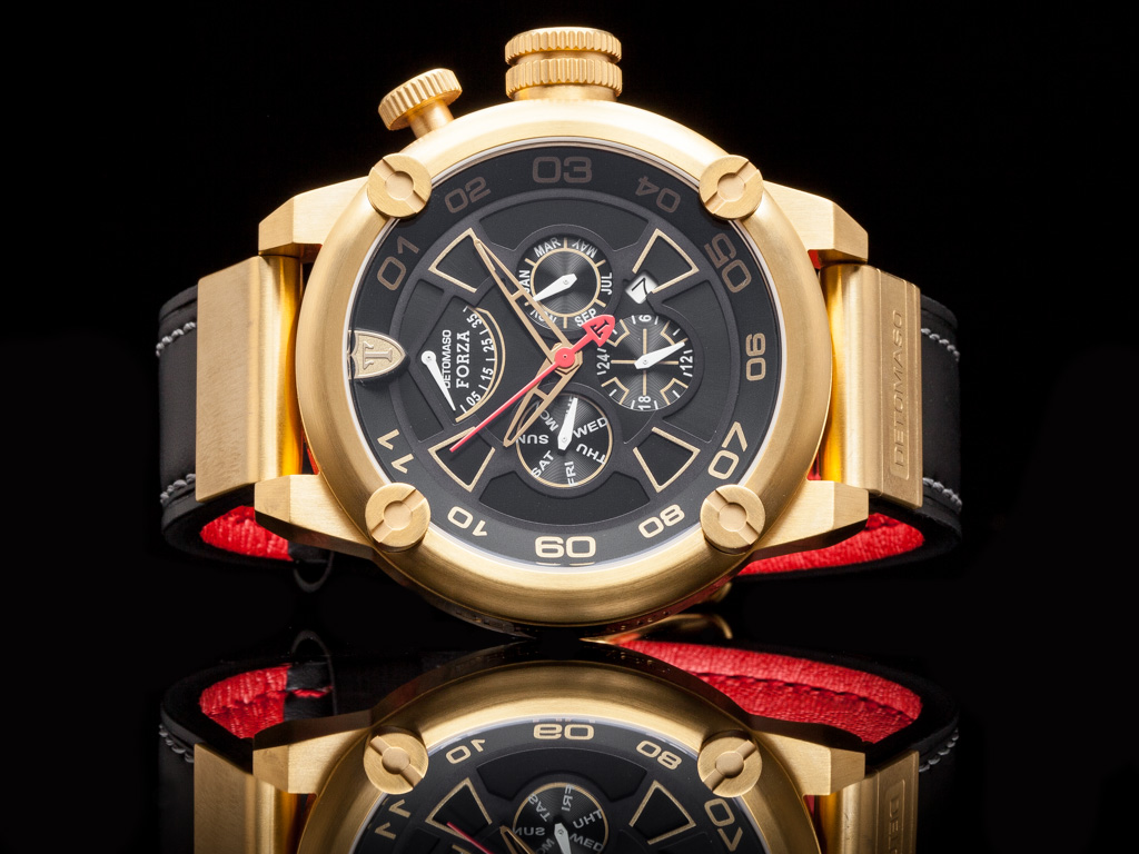 detomaso forza mens watch xxl automatic multifunction gold. Black Bedroom Furniture Sets. Home Design Ideas
